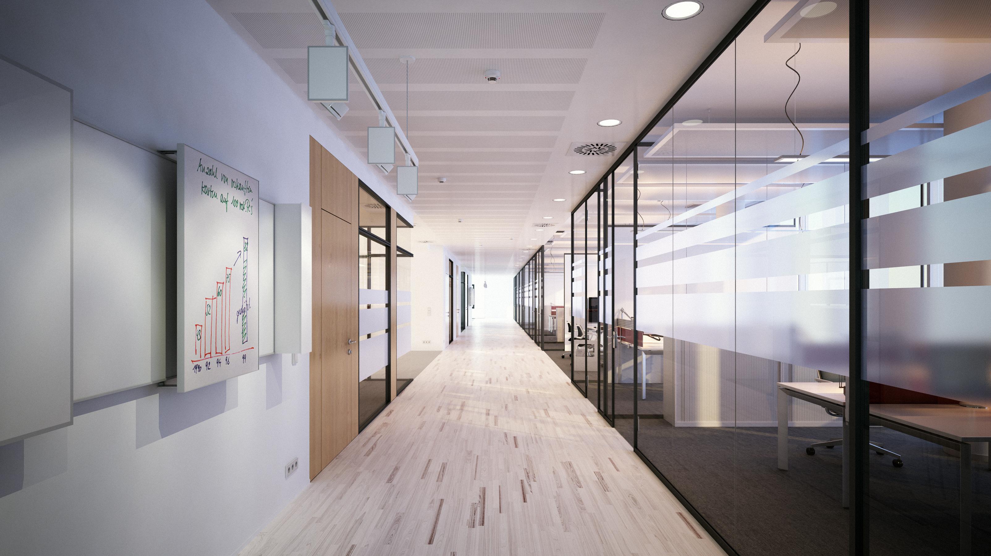 Schlichter moderner Büroflur – Vorstandsetage | Capitol Hill Offices